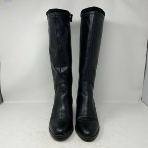 Franco Sarto Black Leather Lithium Knee High Boots